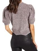 SHAKE YOUR BON BON Metallic Puff Tee Sweater Grey
