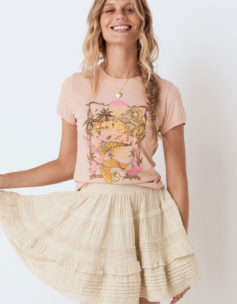 SPELL & THE GYPSY Ocean Pearl Organic Shrunken Tee