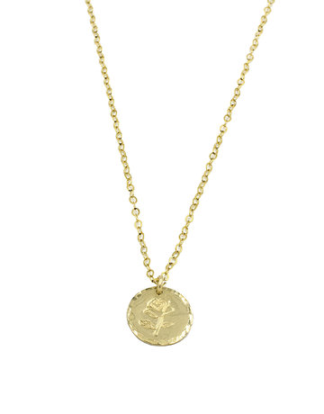 PARADIGM DESIGNS Rose Coin Necklace