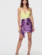 FOR LOVE AND LEMONS Madeleine Sequin Skirt - Purple