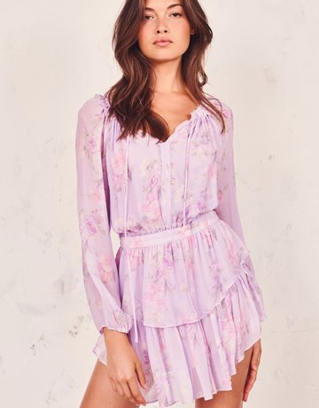 LOVESHACKFANCY Popover Dress - Hibiscus