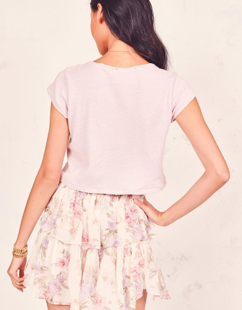 LOVESHACKFANCY Ruffle Mini Skirt - Almond