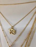 Twiga Eye Of Horus Layering Necklace