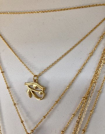 Twiga Eye Of Horus Layering Necklace