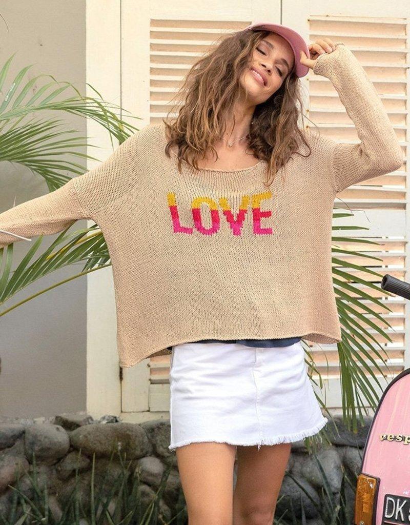 WOODEN SHIPS Gypsy Love Sweater - Panama Tan
