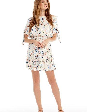 SALTWATER LUXE Smocked Waist Mini Dress - Vanilla
