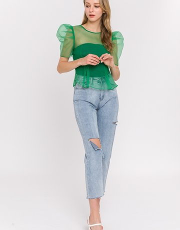 SHAKE YOUR BON BON Green Goddess Top