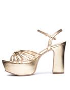 CHINESE LAUNDRY Doll - Metallic Gold Platform Heel