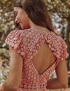 SAYLOR Rouen Dress - Clay