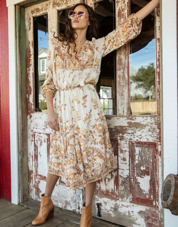 SPELL & THE GYPSY Hendrix Boho Dress - Long Sleeve - Cream
