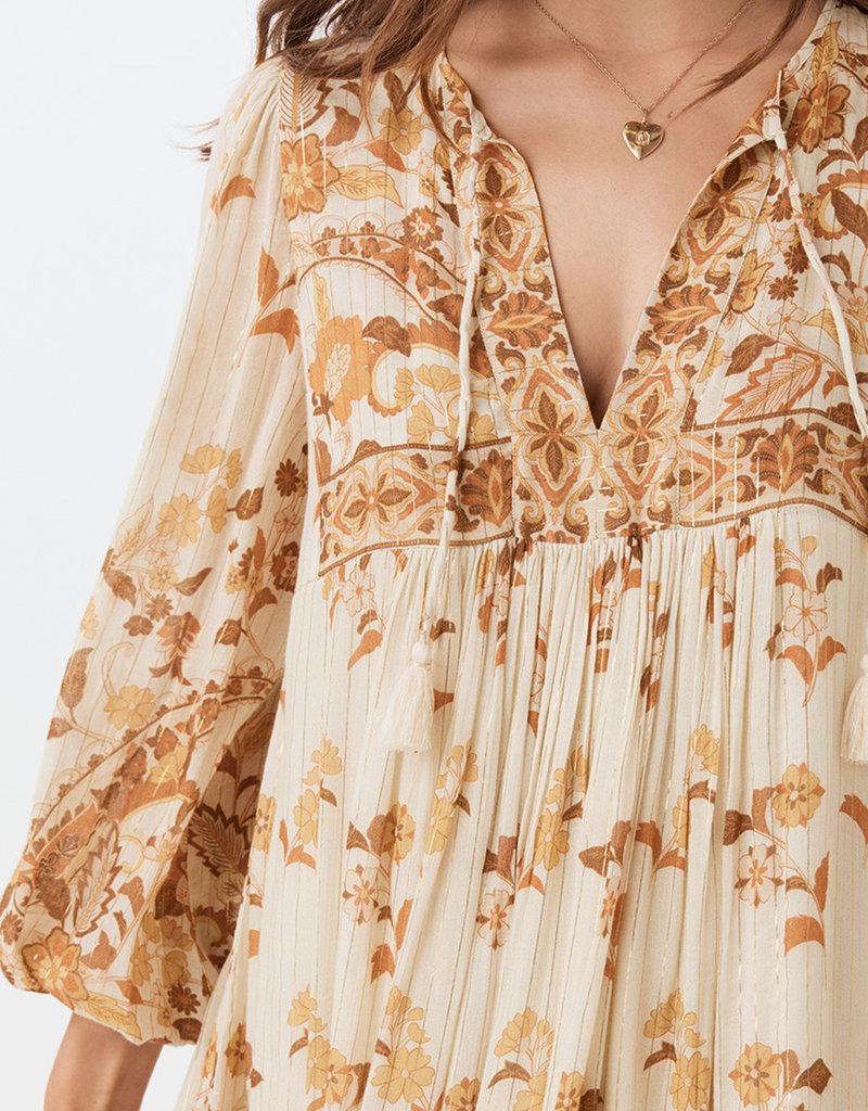 SPELL & THE GYPSY Hendrix Boho Dress - Long Sleeve - Cream