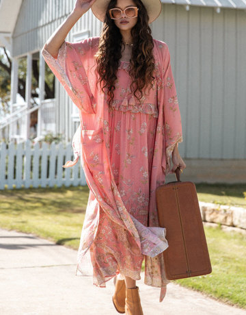 SPELL & THE GYPSY Hendrix Robe - Dusty Pink