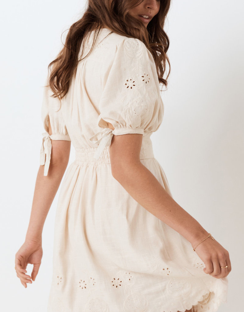SPELL & THE GYPSY Imogen Embroidered Party Dress - Cream