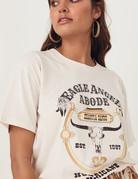 SPELL & THE GYPSY Eagle Angel Organic Boyfriend Tee - Cream