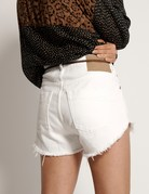 ONE TEASPOON White Beauty Outlaws Mid Length Denim Short