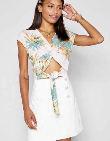 SHAKE YOUR BON BON Come Ashore Linen Skirt - White