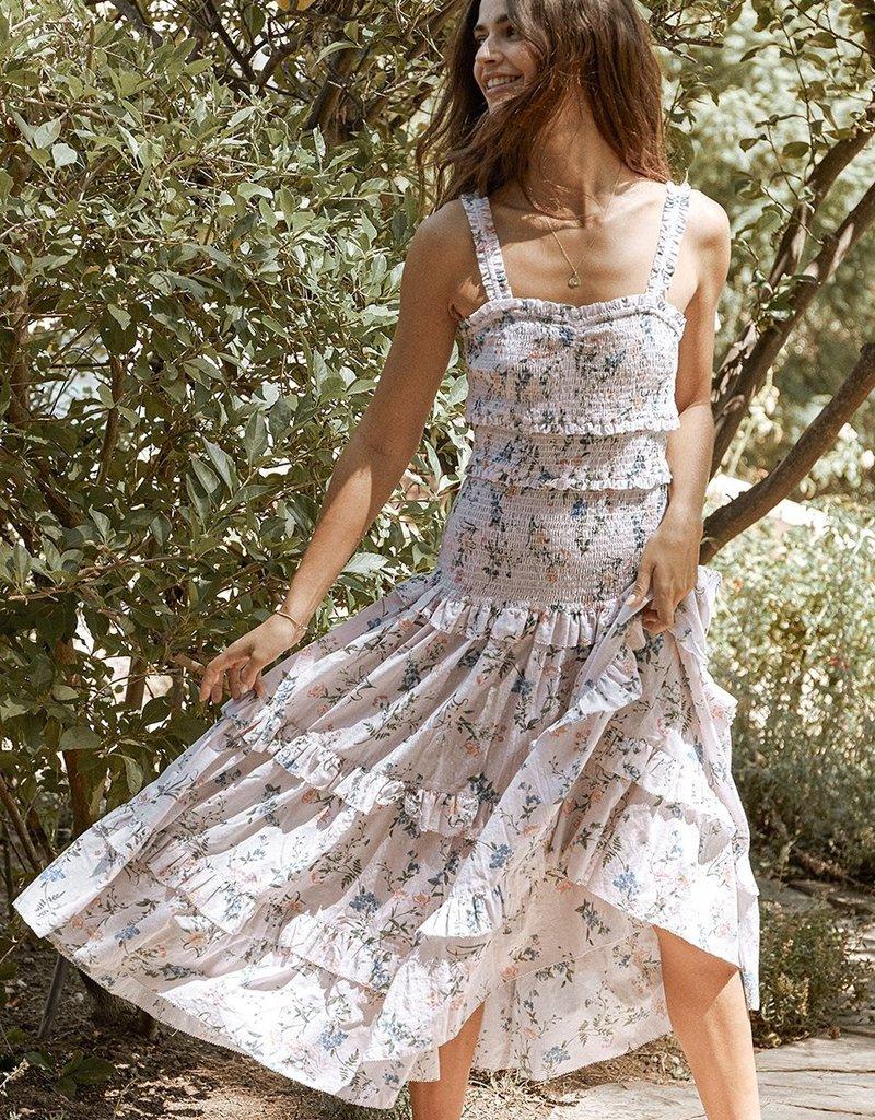 SAYLOR Althea Dress - Floral Swiss Dot