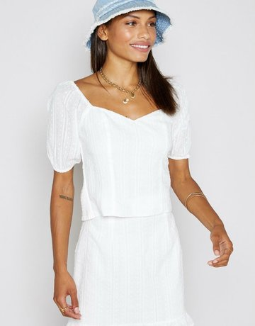 SHAKE YOUR BON BON Beyond The Sea Smock Top - White