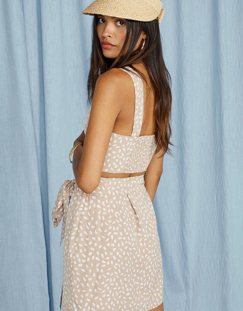 SAGE THE LABEL New Wave Wrap Skirt - Beige