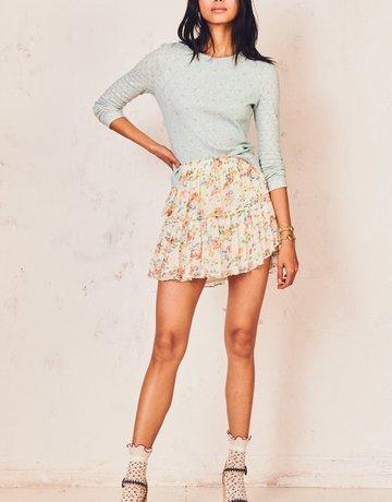 LOVESHACKFANCY Ruffle Mini Skirt - Floral Confetti
