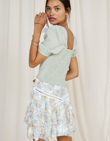 SAGE THE LABEL Ocean Muse Mini Skirt - Ivory Multi