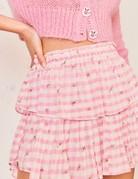 LOVESHACKFANCY Ruffle Mini Skirt - Pink Pop Rock