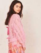 LOVESHACKFANCY Eugenia Pullover - Pink Flamingo
