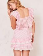 LOVESHACKFANCY Leon Dress - Pink Pop Rock