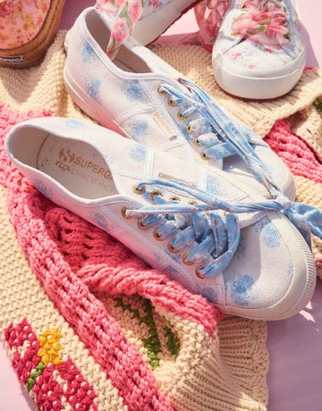 LOVESHACKFANCY Superga x LoveShackFancy Women's Classic Sneaker - Morning Mist