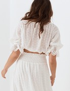 SPELL & THE GYPSY Daisy Chain Tie Top - White