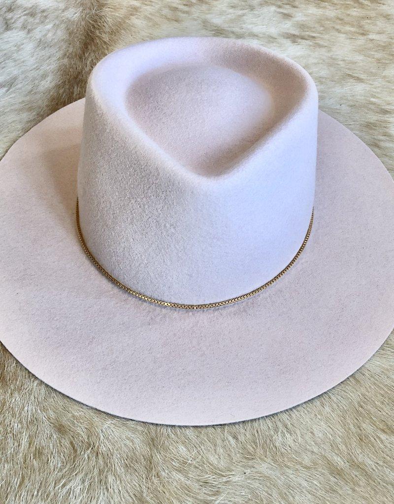 VAN PALMA Gaia Hat - Baby Pink