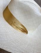 VAN PALMA Serena Hat with Yellow Ribbon - Natural