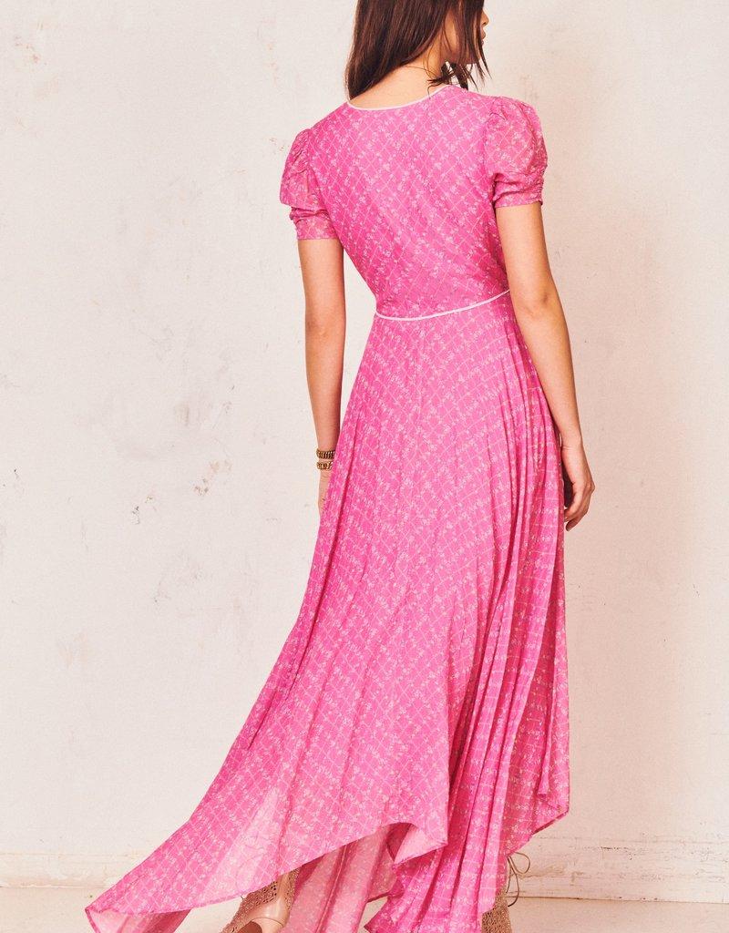 LOVESHACKFANCY Coralie Dress - Fuchsia Berry