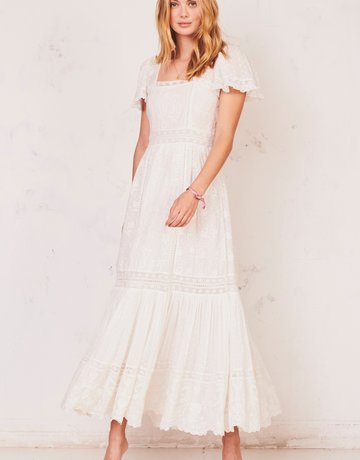 LOVESHACKFANCY Norma Dress - White