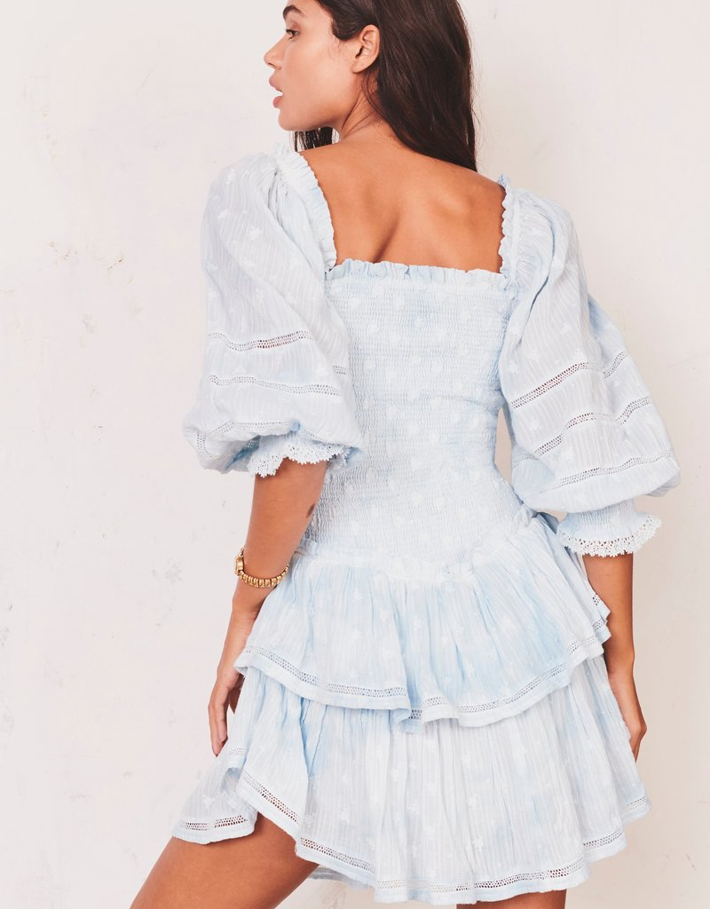LOVESHACKFANCY Raelynn Dress - Hand Dyed Soft Blue