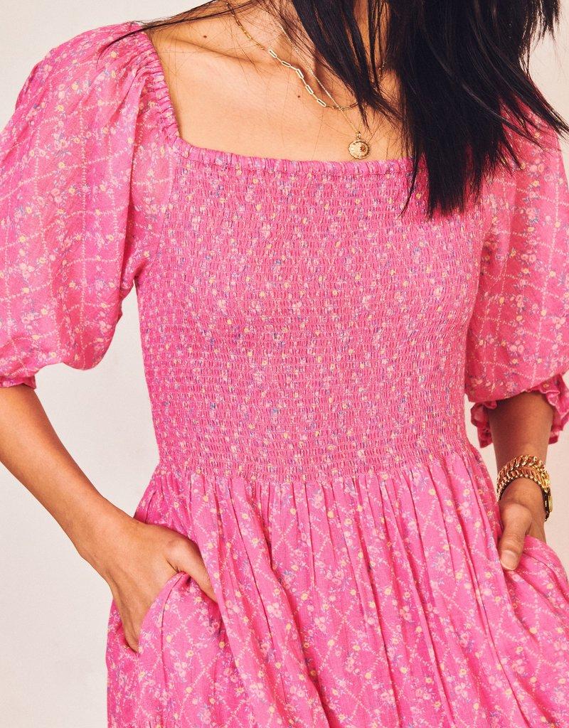LOVESHACKFANCY Rigby Dress - Fuchsia Berry