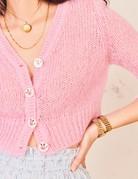 LOVESHACKFANCY Folley Cardigan - Pink Flamingo