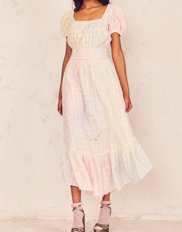 LOVESHACKFANCY Begonia Dress - Multi Tie Dye