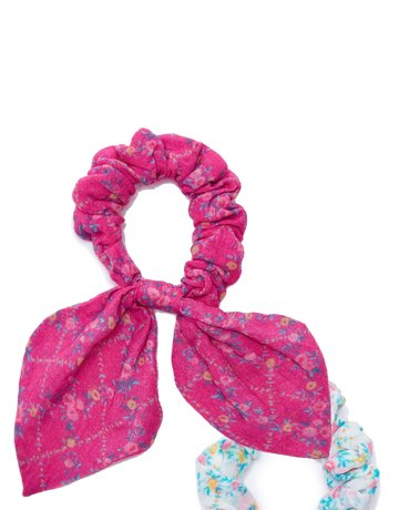 LOVESHACKFANCY Gauze Swim Multi Scrunchie - Pink