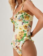 FOR LOVE AND LEMONS Spring Garden One Piece Swim - Sunshine
