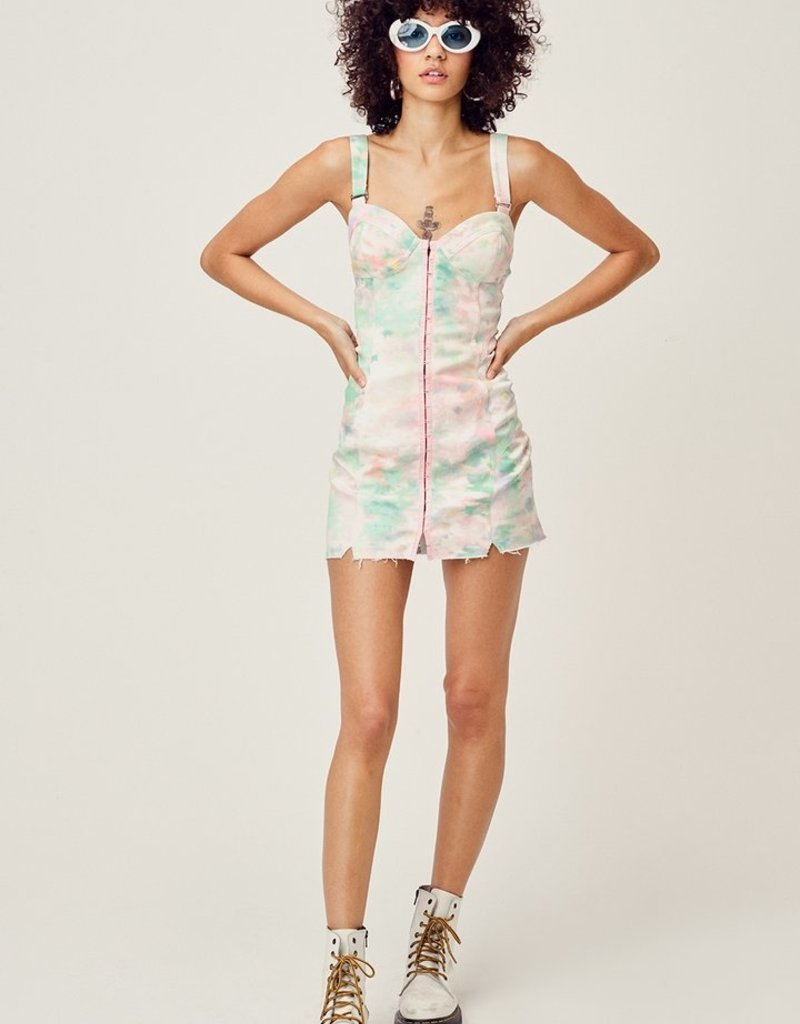 FOR LOVE AND LEMONS Smythe Mini Dress - Tie Dye