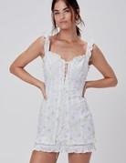 FOR LOVE AND LEMONS Azalea Mini Dress -  White Floral