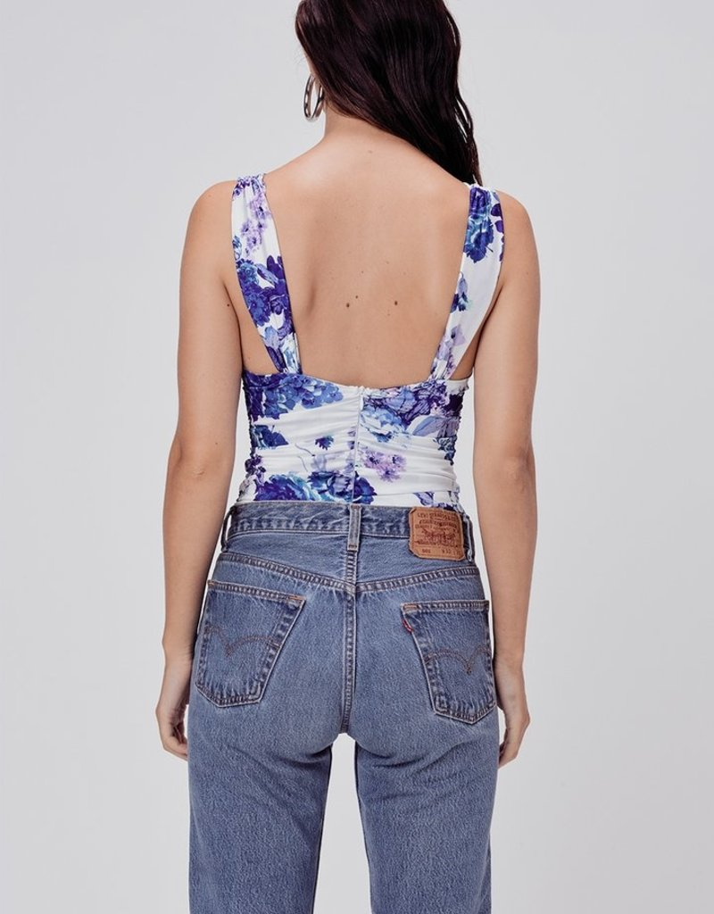 FOR LOVE AND LEMONS Hyacinth Bodysuit - Navy Floral