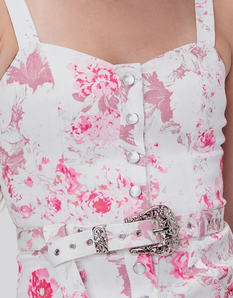 FOR LOVE AND LEMONS Weston Western Belt - Pink Floral