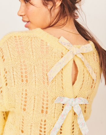 LOVESHACKFANCY Eugenia Pullover -  Sweet Sunshine
