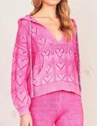 LOVESHACKFANCY Meara Hoodie - Quartz Pink
