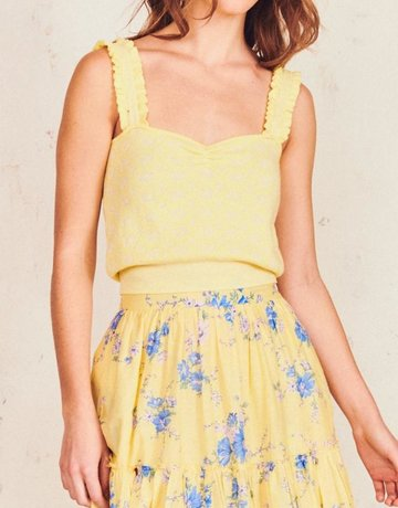 LOVESHACKFANCY Chia Crop Tank - Lemon Sorbet