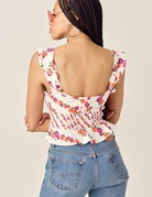 FOR LOVE AND LEMONS Georgia Lace Up Top - Orange