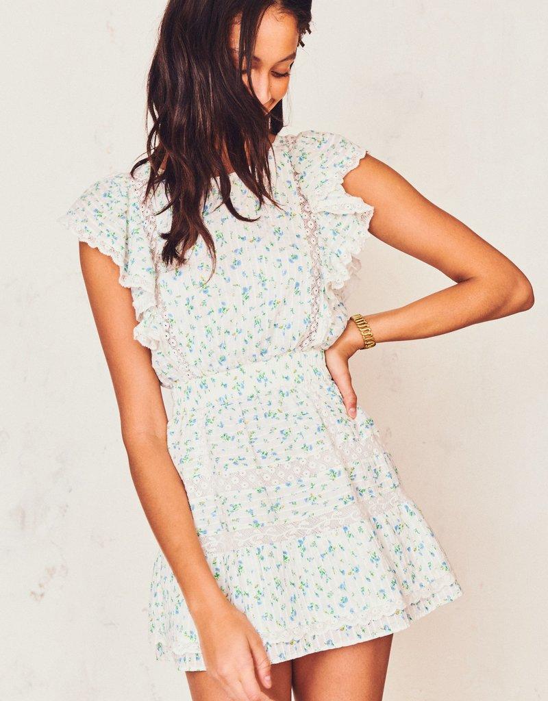 LOVESHACKFANCY Roberta Dress - Bonnet Blue