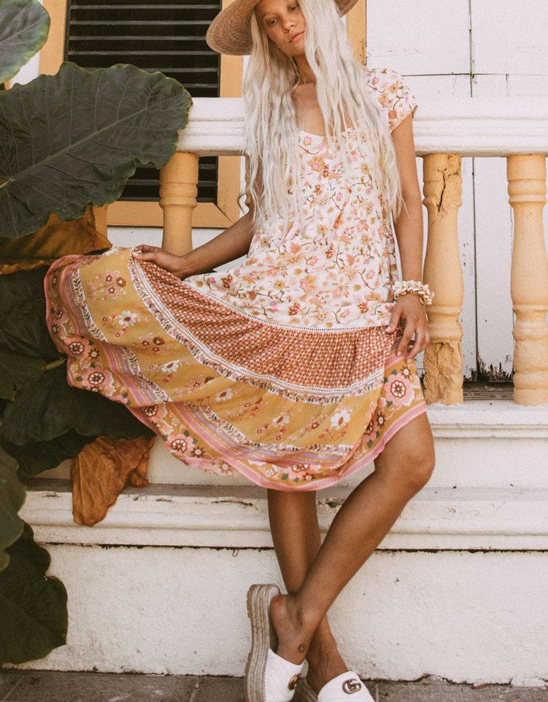 SPELL & THE GYPSY Portobello Road  Babydoll Midi Dress - Honey Dew
